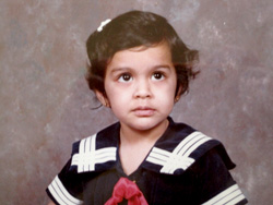 Shaheena Karimi childhood picture
